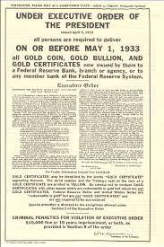 first u s bank bail in was 1933 u2032s gold confiscation digital