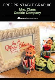 remodelaholic free christmas printable mrs claus cookie co