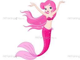 little mermaid wall stickers for kids vdi1061en