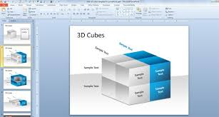 Cube Powerpoint Template cubes template for powerpoint