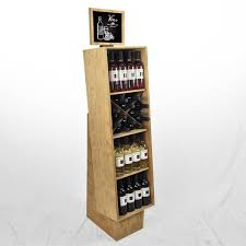 merchandise display case retail craft beer display racks wooden wine crate displays