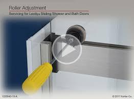 instructional video roller adjustment for levity sliding shower