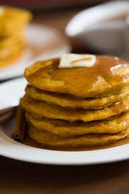 pumpkin pancakes with cinnamon syrup tastes better from scratch