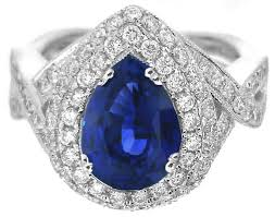 sapphires rings images Fine quality pear shape ceylon sapphire and double diamond halo jpg