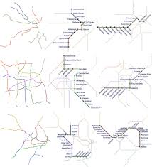 Mexico City Metro Map by Focus Context Metro Maps