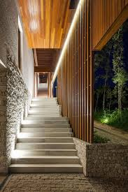 Beautiful Lighting Expansive Holiday Home Unites Stone Concrete And Timber In Style