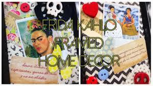 d i y frida kahlo framed home decor youtube