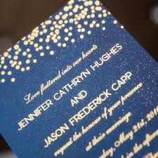 polka dot wedding invitations foil gold polka dots and navy blue wedding invitation ewfi024 as