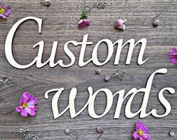 wooden words etsy