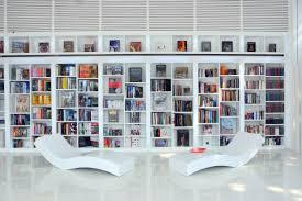 interior stylish white home library interior wonderful home