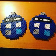 i made a dr who tardis ornament out of perler for a