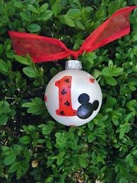 mickey mouse personalized ornament birthday favor