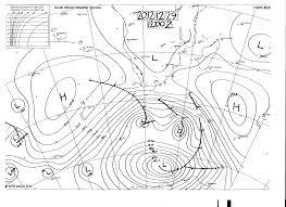 Isobar Map Sa Summer Synoptic Chart 1 Sa Geography