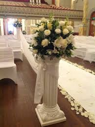 wedding flowers adelaide flower arrangement on pillar column for wedding ceremony at