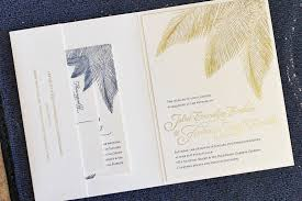 palm tree wedding invitations navy and gold foil palm tree wedding invitations the windmill