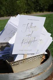 Wedding Ceremony Program Fans Take The Cake Events Rustic Yellow And Grey Mountain Wedding
