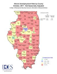 County Map Illinois by 2011 October Illinois Unemployment County Map Great River