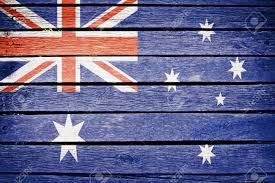 Austailia Flag Australia Australian Flag Painted On Old Wood Plank Background