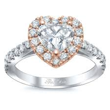 halo engagements rings images Heart shaped halo engagement ring rose gold jpg