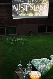 Backyard Movie Theatre by Outdoor Movie Theater Seating Stacy Risenmay