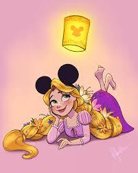 disney princess rapunzel wearing mickey ears classic disney