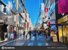 Shopping In Germany Shopping Hohe Strasse In Cologne Germany Stock Editorial