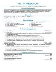 occupational therapy resume template unforgettable physical