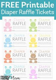 baby shower raffle free printable baby shower raffle tickets template all about