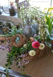 easter centerpiece build a blooming easter basket hometalk