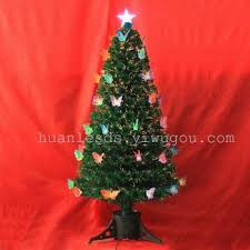 supply butterfly christmas tree led fiber optic christmas tree