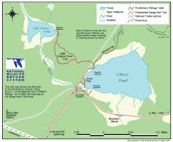 new england central railroad map hike new england cherry pond and little cherry pond via