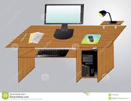 Desktop Computer Stands Desktop Computer On A Table Stock Photography Image 11406132