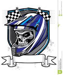 motocross helmet camera motocross skull rider royalty free stock photography image 32194607