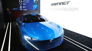 peugeot concept cars peugeot envisions a self driving hybrid car that cares about your