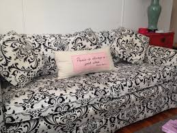 Home Decor Fabric Sale Furniture Contemporary Black And White Pattern Fabric Couch With