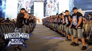 an army of john cenas make their wrestlemania entrance