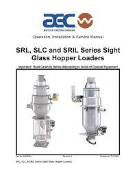 srl slc and sril series sight glass hopper loaders