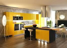 Yellow Kitchen Cabinet Yellow Kitchen Cabinets Design Modern Tile Refrigerator Hardwood
