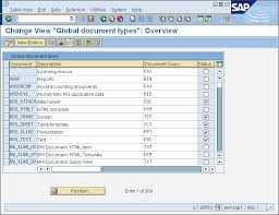 sap document types table edit document types
