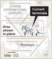 Chicago Ohare Terminal Map by O U0027hare Terminal Two Redevelopment Plans Chicago Tribune
