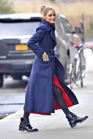 s boots style palermo s streetstyle look ankle length blue coat with