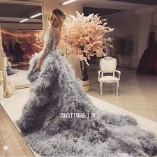 feather wedding dress 2017 ostrich feather luxury wedding dress backless hi lo bridal