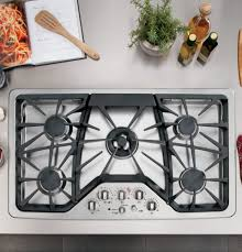 Ge Modular Cooktop Ge Cgp650setss 36 Inch Gas Cooktop With Griddle Accessory Precise