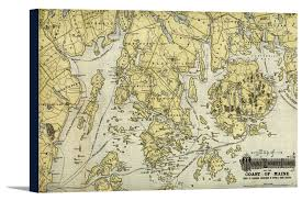 Map Of Maine Coast Mount Desert Island And Coast Of Maine 1920 Panoramic Map