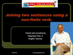 how to join to sentences using a non finite verb