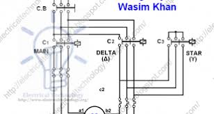 3 phase motor connection star delta without timer power diagram