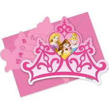 disney princess crown shaped invitations princess partyware