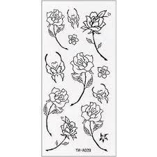 simple black rose tattoo sticker polyvore