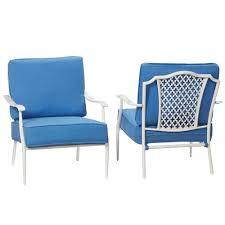 Hampton Bay Patio Chair Cushions hampton bay alveranda stackable metal outdoor lounge chair with