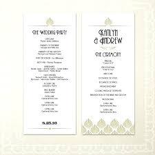 tea length wedding programs template template for wedding programs
